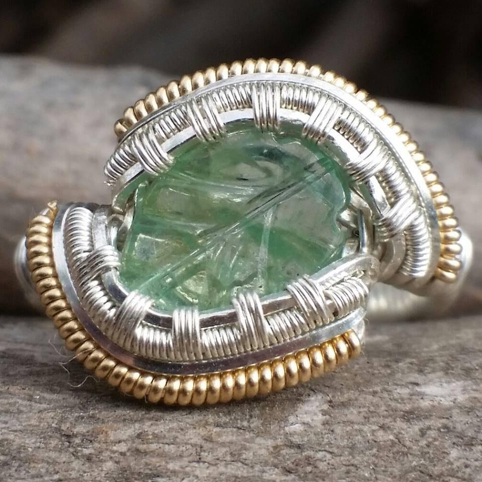 wirewrapped gemstone rings. custom to order.