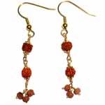 Sold! More rudraksha beaded earrings to order.