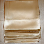 Silk charmeuse pillow cases.